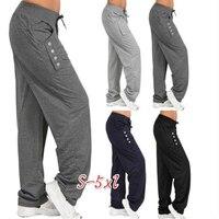 Pantalones de chándal holgados informales para mujer, ropa deportiva, pantalones largos bombachos para correr, de talla grande, para el hogar