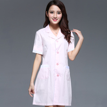 Beauty salon work clothes female cosmetologist nurse dress new spring and summer white coat tattoo artist clothing