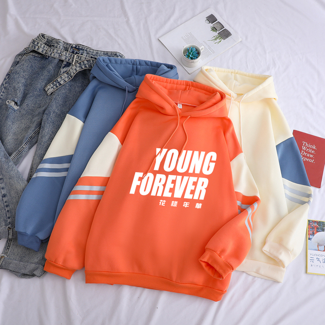 YOUNG FOREVER THEMED HOODIE (3 VARIAN)