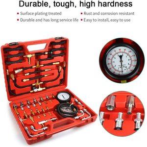 Image 5 - TU 443 deluxe manômetro medidor de pressão combustível kit teste do motor bomba injeção combustível tester sistema completo