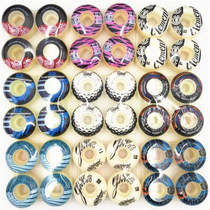 4pcs/Set Skateboard Wheels 50/51/52/53/54mm Special Offer PU Skate Board Wheels For Skateboarding Deck