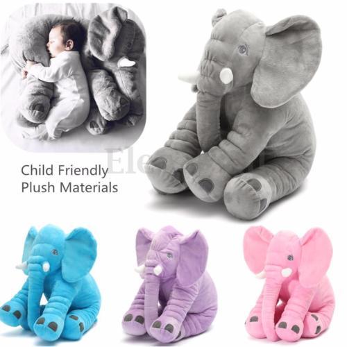 Baby Kids Plush Stuff  Long Nose Elephant Doll Pillow Soft Baby Kid Plush Stuff Toys Lumbar Pillow Gift