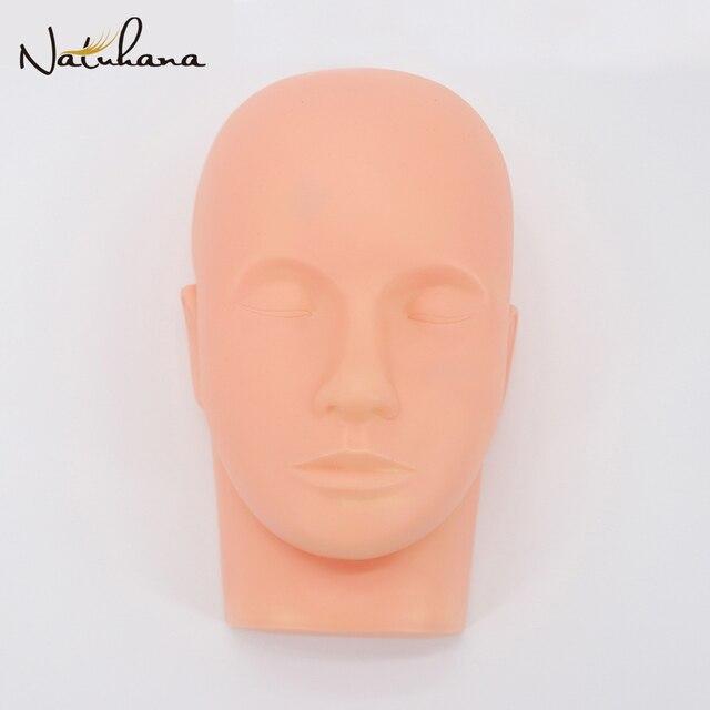NATUHANA Pro Mannequin FLAT HEAD Eyelash EXTENSION แต่งหน้า Practice เครื่องสำอางรุ่น Professional การฝึกอบรมเครื่องมือหัว