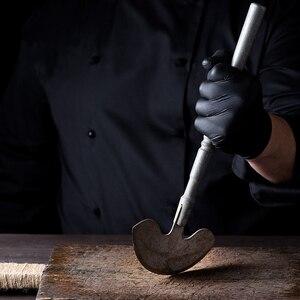 Image 3 - Czarne jednorazowe rękawice nitrylowe ochronne rękawice robocze rękawice do sprzątania w pudełku 100 szt. Do użytku domowego w miejscu pracy