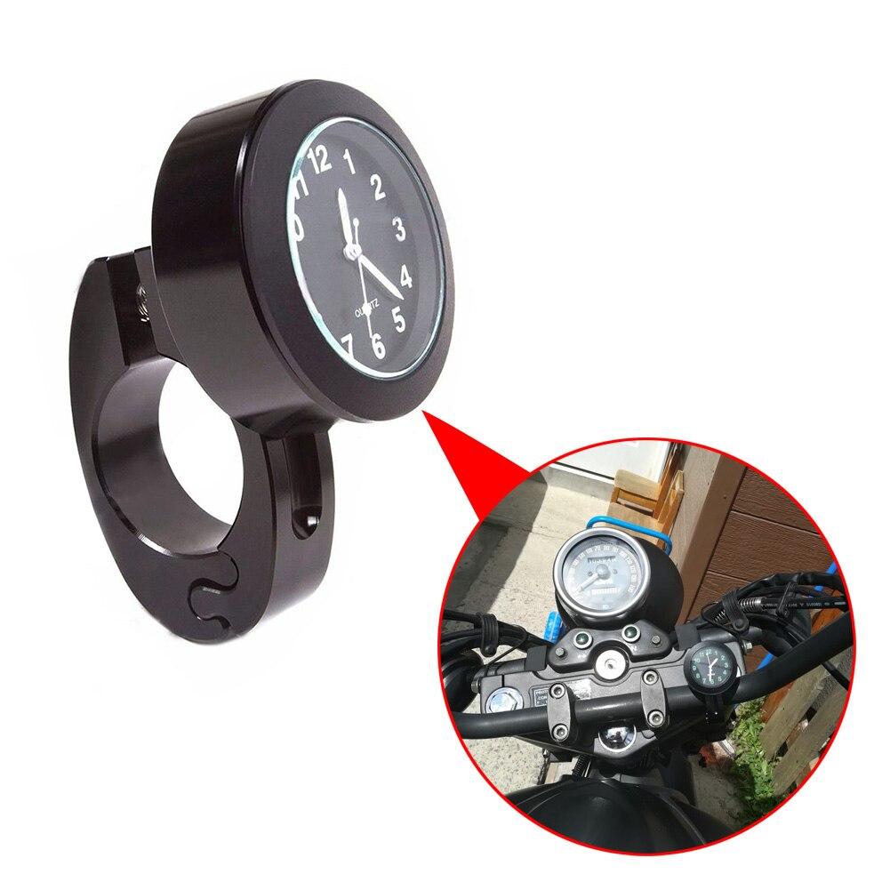 Waterproof Watch Clock Bicycle Motorcycle Handlebar Black/Silver Clock Quartz Watch For Davidson Harley Honda Yamaha Kawasaki