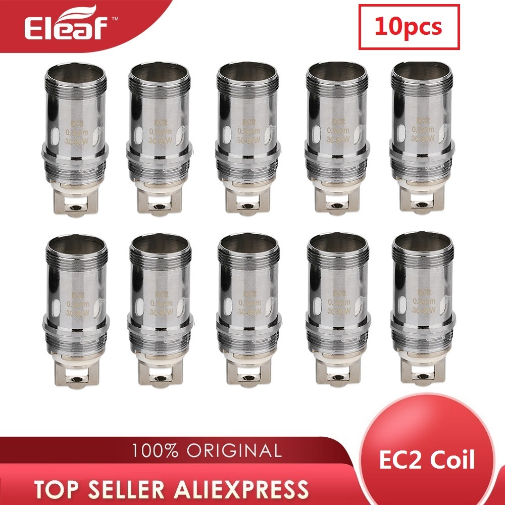 Original 10pcs Eleaf Melo 4 Atomizer Coil Head EC2 Coil Evaporizer 0.3ohm/0.5ohm Vaping EC2 Coil For Melo 4 Tank / IKuun I200