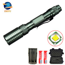 ZHIYU High Lumens Led Rechargeable Flashlights 4000LM T6 Military 5 Modes Waterproof Zoomable Tactical Torch for Camping Outdoor