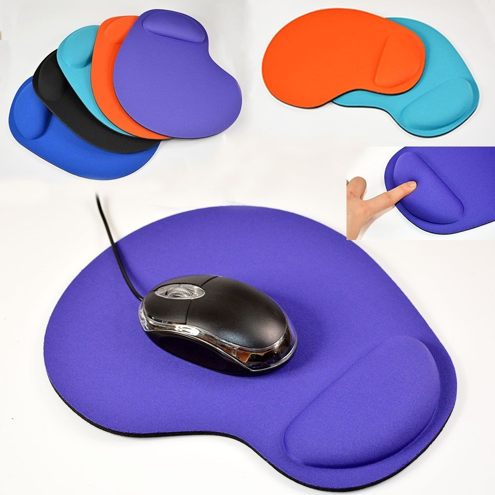 Game Mouse Pat Silicone Soft Anti Slip Mouse Pad With Wrist Rest Support Mat For Computer Gaming PC Laptop Muismat Solid Color
