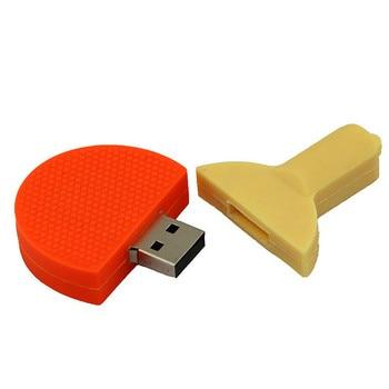 Wholesale cartoon table tennis racket USB disk  fitness advertising sports equipment USB disk ball USB3.0 diskbusiness gift 8g