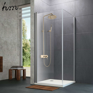 "Image 3 - hm Brushed Gold Shower System  10"" Shower Faucet Set Bathroom Rain Shower head and 3 Setting Handheld Shower Head Set"