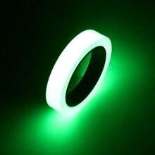 10 м 12 мм светящаяся лента само-липкая сигнальная лента ночного видения светящаяся в темноте безопасная домашняя декоративная светящаяся лента