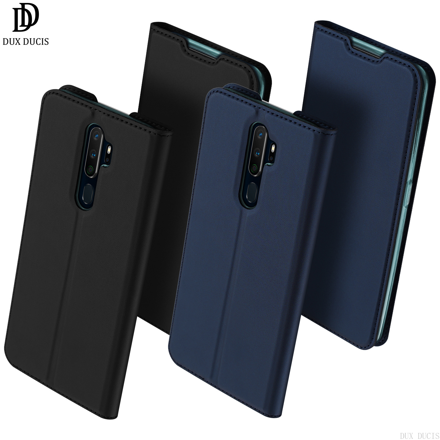 Dux Ducis Flip <font><b>Case</b></font> For <font><b>OPPO</b></font> A9 <font><b>2020</b></font> & <font><b>A5</b></font> <font><b>2020</b></font> Card Slot Holder Wallet Stand Cover TPU Soft Bumper Protective Anti-knock <font><b>Case</b></font> image