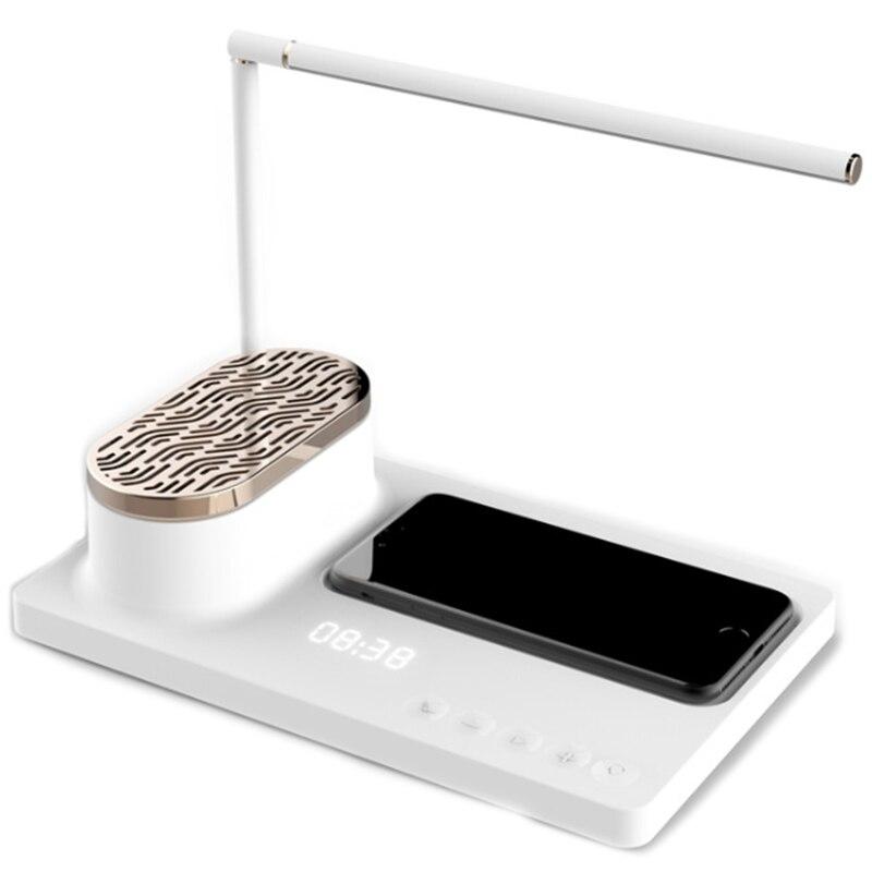 Новый светодиодный аудио настольная лампа умный дом Маяк многофункциональная Настольная лампа с беспроводным зарядным устройством и ...