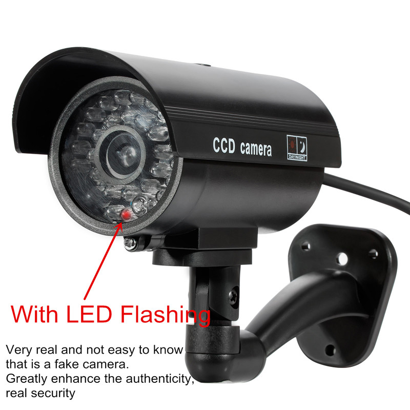 Outdoor/Indoor Fake Dummy Surveillance Security CCTV Camera with LED Light Security TL-2600 Waterproof Fake Camera