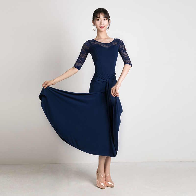 Дешевые Бальные платья бальное платье, для вальса, платья для бальных танцев Одежда Вальс платье фокстрот Танцы кружевное платье костюм для танго