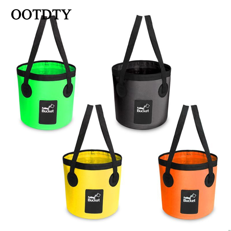 Waterproof Bags Fishing Folding Bucket Portable Buckets Water Container Storage Carrier Bag For Car Washing Outdoor Camping