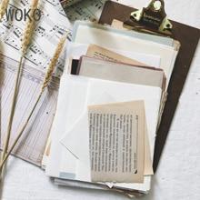 WOKO 14 стилей ретро руководство Материал посылка винтажный блокнот фоновый коллаж бумаги старый блокнот наклейка, сделай сам, скрапбукинг