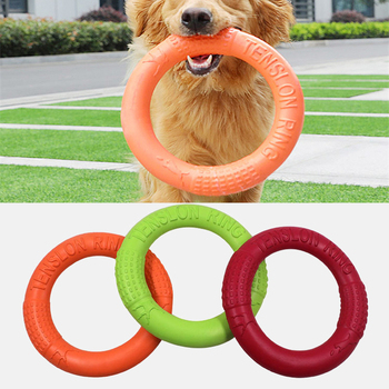 Dog Toys Flying Discs Pet Interactive Training Ring Dog Portable Outdoor for Small Large Dog Chew Toys Pet Motion Tools Products 1