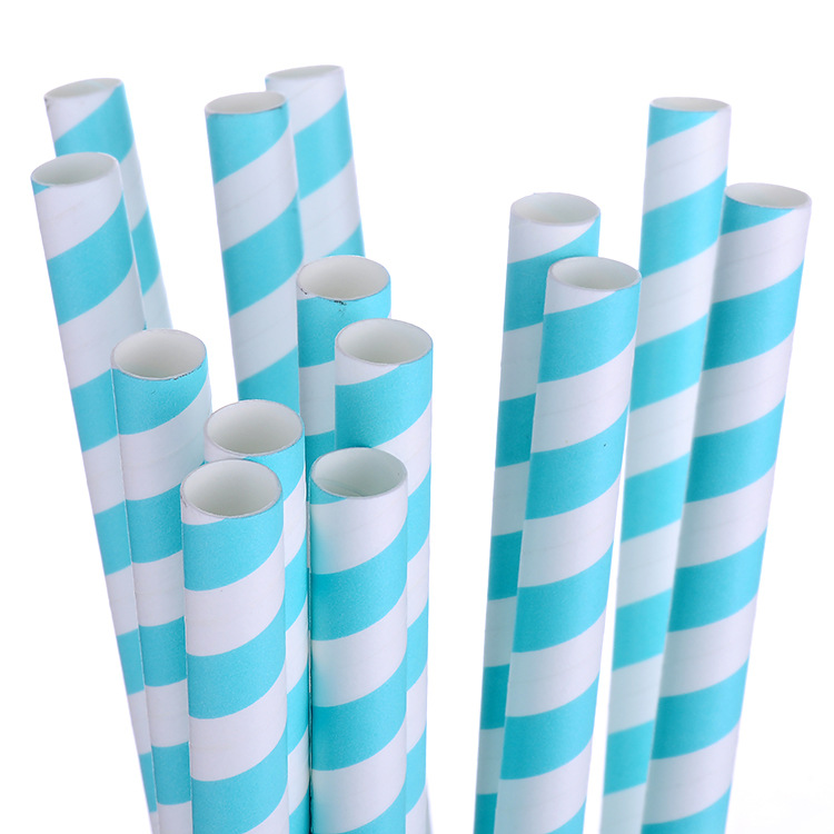 Acic Qian Hotel Straw Disposable Consumables Environmentally Friendly Biodegradable Kitchen Bar Supplies OPP Bag Paper Sucker