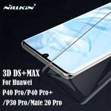 Dla Huawei P30 Pro P40 Pro + Plus szkło hartowane Nillkin 3D DS + MAX 9D pełnoekranowe szkło przeciwwybuchowe dla Mate 20 Pro