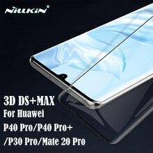 สำหรับHuawei P30 Pro P40 Pro + PlusกระจกนิรภัยNillkin 3D DS + MAX 9D Full Screen Protectorป้องกัน ระเบิดสำหรับMate 20 Pro