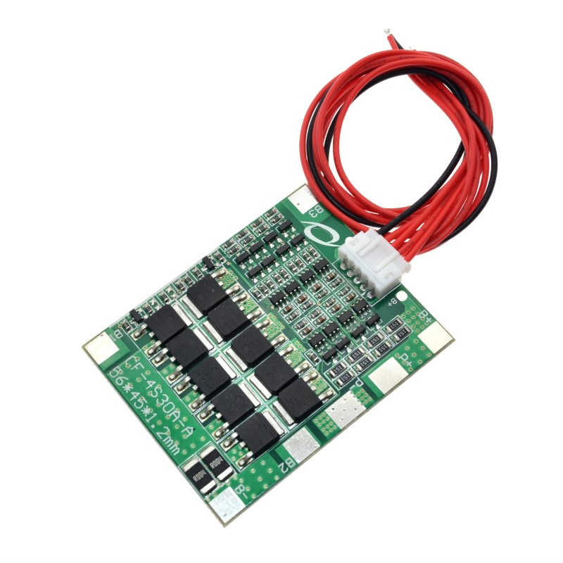 4S 30A 14.8V Li-Ion Lithium 18650 Batterij Bms Packs Pcb Bescherming Boord Met Balans Geïntegreerde Schakelingen