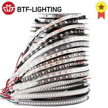 Bande lumineuse LED, peut se dresser individuellement, existe en noir et blanc, 1, 2, 4 ou 5 mètres de long, WS2812, RGB, PCB, IP30, 65, 67, 5V
