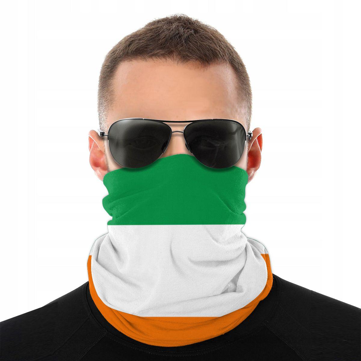 Irish Flag Ireland Magic Scarf Neck Face Mask Men Women Halloween Tube Mask Seamless Bandana Polyester Headband Cycling Hiking