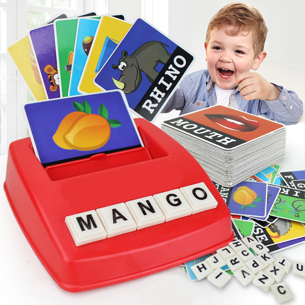 Educational Toys Word Cards Matching Letter Game Letter Spelling Reading Game English Alphabet Letters Card Match Game Children