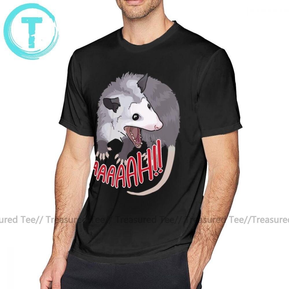 Scream T Shirt Possum Scream At Own Ass T-Shirt Awesome Beach Tee Shirt Male XXX Short Sleeves Cotton Print Tshirt