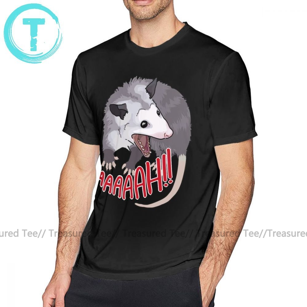 Scream T Shirt Possum Scream At Own <font><b>Ass</b></font> T-Shirt Awesome Beach Tee Shirt Male XXX Short Sleeves Cotton Print <font><b>Tshirt</b></font> image