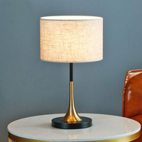 Nordic Retro LED table lamp indoor lighting decor vintage Bedroom bedside lamp fabric lampshade table light home deco luminaria