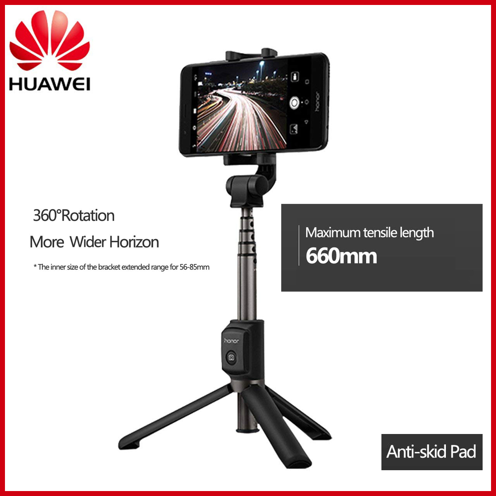 Huawei honneur Selfie bâton trépied Portable sans fil Bluetooth 3.0 monopode tenu dans la main pour IOS/Android/Huawei Xiaomi téléphone intelligent