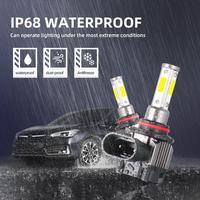 2pcs H7 LED Headlights  M5 Car LED Headlights 9005 9006 H7 H8 H9 H11 H4 Car Headlight Bulbs 6000K 2500LM 25W Headlights 6
