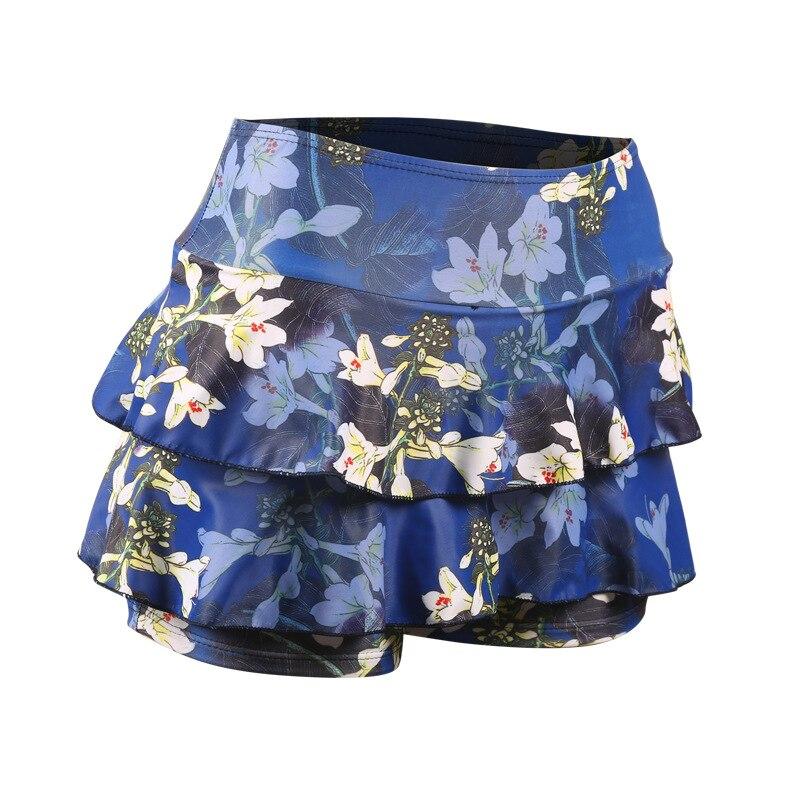 2018 New Style Korean-style Women's Swimdress-Style Bathing Suit Printed Skirt Swimming Trunks Flounced Slim Fit Swimwear
