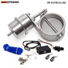 """Juego de válvula de Control de escape con actuador de vacío, recorte de tubo de 2,5 """"63mm, estilo cerrado con mando a distancia inalámbrico EP CUT63 CL DZ"""