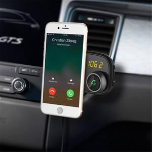 Chargeur de voiture à charge rapide QC3.0 | Universel, affichage LED QC3.0, chargeur de voiture, bluetooth FM, support de transmetteur de téléphone magnétique, lecteur de musique MP3