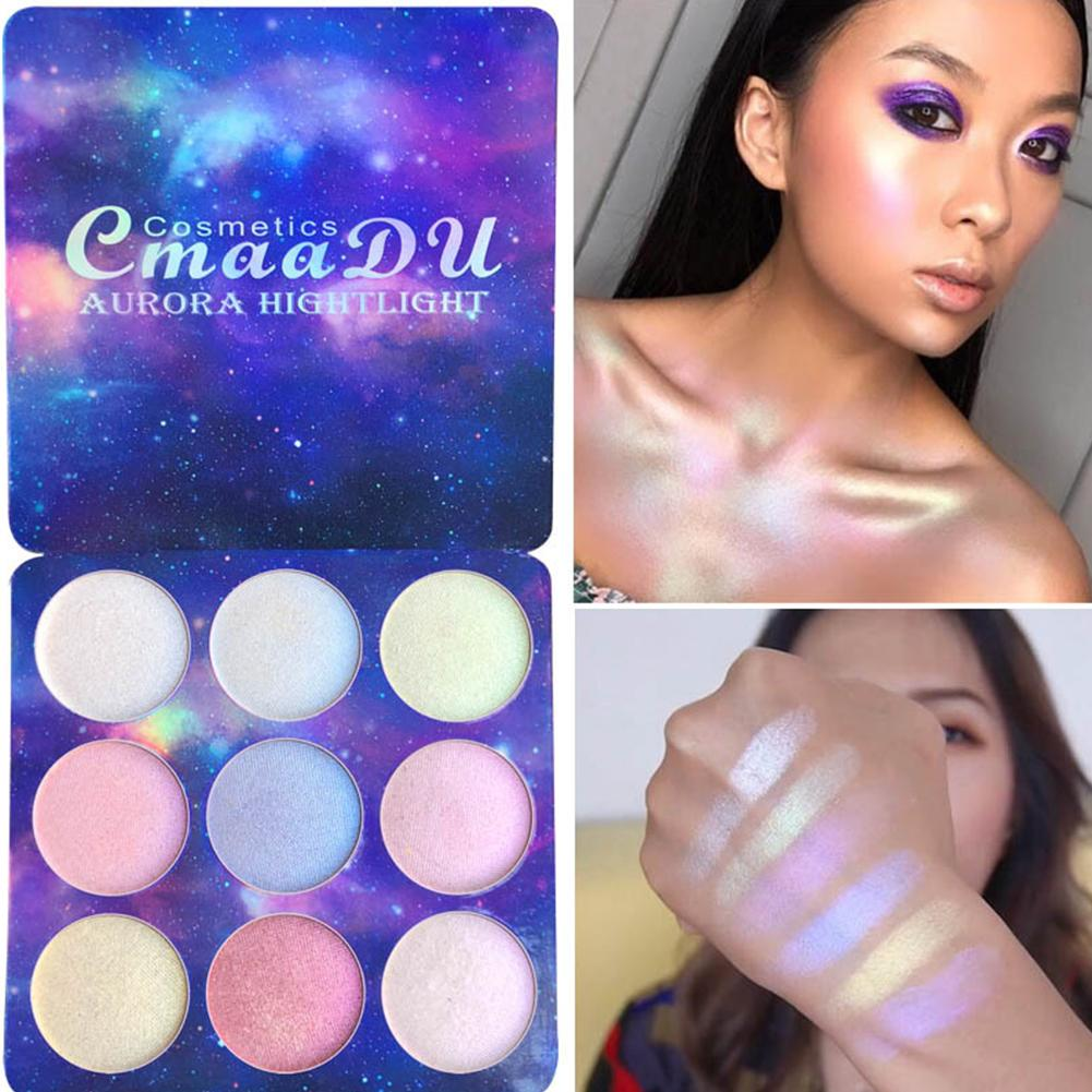 9 Color Eye Shadow Powder Highlighter Waterproof Long Lasting Palette Makeup Muti Maquiagem