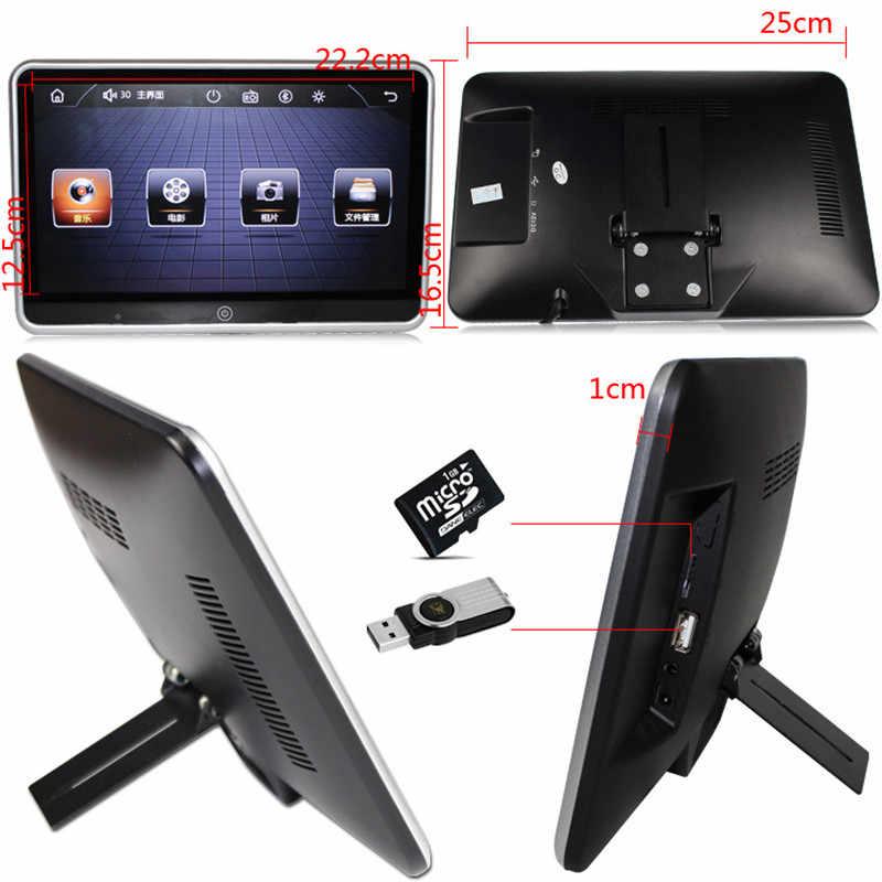 Monitor para reposacabezas de coche de 10,1 pulgadas reproductor Multimedia de Audio y Video compatible con pantalla táctil LCD 1080P HD con Altavoz Bluetooth MP4 MP5