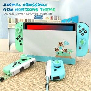 Image 5 - OIVO Animal Crossing Silicone Leaf Joystick Thumb Grip for Nintend Switch/Lite  Joy con 4 PCS Stick Grip Key Case Analog Caps