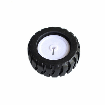 2pcs/lot 43MM D-Hub Rubber Wheel Suitable with N20 Motor D Shaft Tire Car Robot DIY Toys Parts Trolley model wheels image
