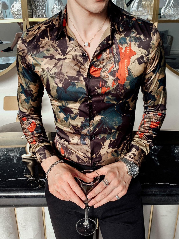 Versace Medusa Long Sleeve Dress Women Mini Casual Shirt Turn-down Collar Autumn
