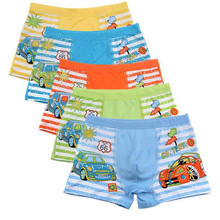 3Pc/lot  Random Color 2-10 Year Boy Cotton Boxer Cartoon Underpants  Kids Underwear Shorts