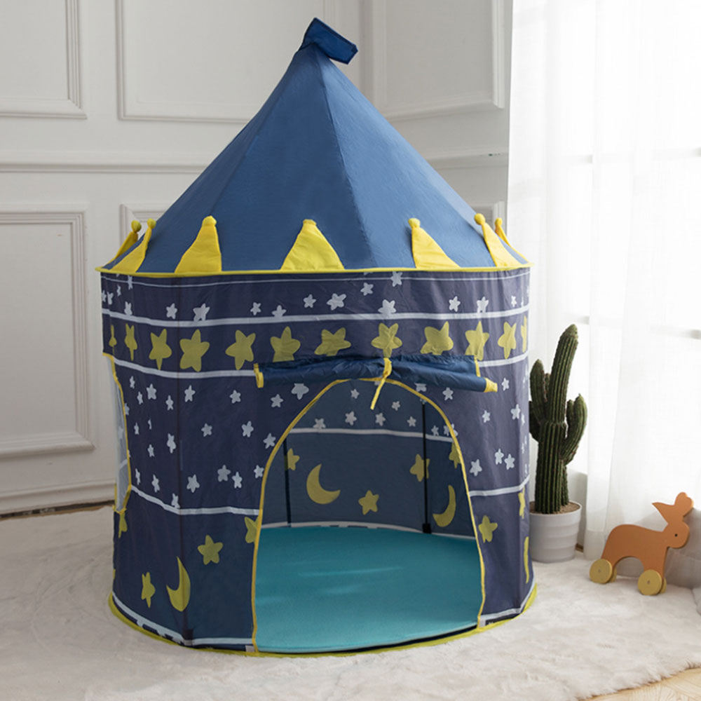Portable Folding Baby toy Tent prince/princess Tent Baby Ball Pool Tipi Tent for Kids Children Play House Ocean Ball Toy Tents image