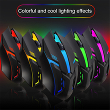 7 Colors Gaming Mouse LED Backlight Ergonomics USB Wired Gamer Mouse Flank Cable Optical Mice Gaming Mouse For Laptop Mice PC