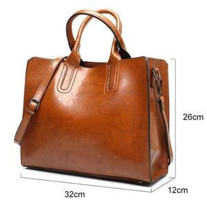 Image 2 - Torebki skórzane Valenkuci duże torebki damskie wysokiej jakości torebki kobiece Trunk Tote torba na ramię znanej marki panie Bolsos