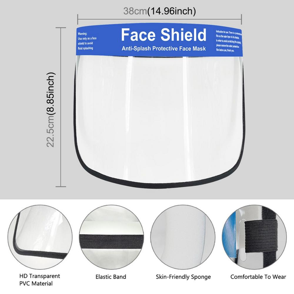 Clear Face Cover and Protective Face Shield with Full Face Visor for Eye and Face Protection 1