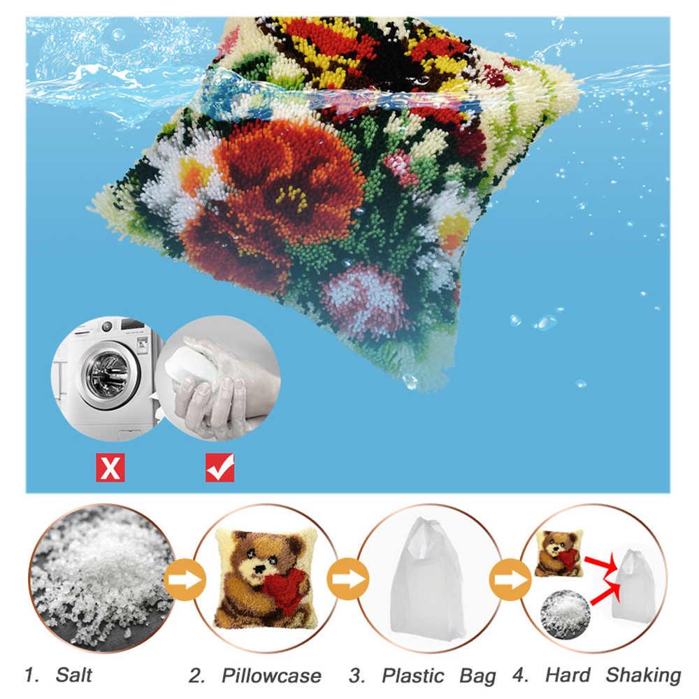 תפס וו רקמת ציפית בעלי החיים להחזיק כריות דוב קרפט כרית ערכות Knoopkussen Pakket שטיח ערכת כרית בד מתנות