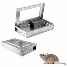 HOT SALE Household Warehouse Tin Cat Style LIVE Mouse Traps with Window Multi Catch Mice  Sale cheap