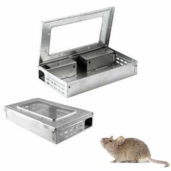 HOT SALE Household Warehouse Tin Cat Style LIVE Mouse Traps with Window Multi Catch Mice Mouse Traps Sale cheap - DISCOUNT ITEM  32% OFF Home & Garden